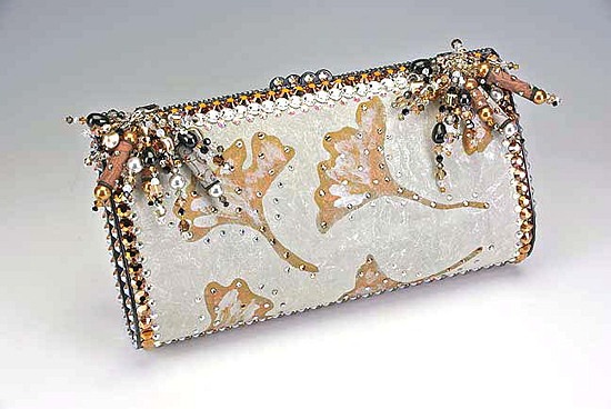 Silk Swarovski Purse