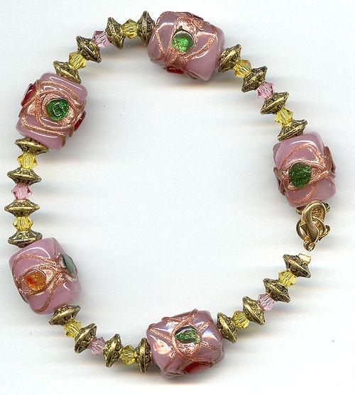 pinkceramicbeadandcrystalbraceletjpg500